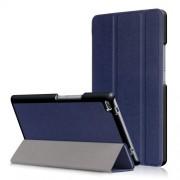 Δερμάτινη Θήκη Βιβλίο Tri-Fold με Βάση Στήριξης για Lenovo Tab 4 8 TB-8504F - Σκούρο Μπλε