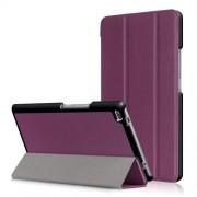 Δερμάτινη Θήκη Βιβλίο Tri-Fold με Βάση Στήριξης για Lenovo Tab 4 8 TB-8504F - Μωβ
