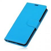 Δερμάτινη Θήκη Πορτοφόλι με Βάση Στήριξης για Huawei Y6 (2018) - Μπλε