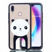 Rubberized Embossed PC + TPU Phone Cover for Huawei P20 Lite/Nova 3e - Panda