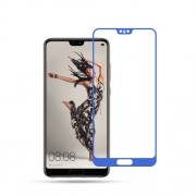 MOCOLO Silk Print Arc Edge Full Coverage Tempered Glass Screen Protector Guard Film for Huawei P20 - Blue