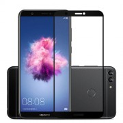 MOCOLO Silk Print Arc Edge Complete Coverage Tempered Glass Screen Protector for Huawei P Smart / Enjoy 7S - Black