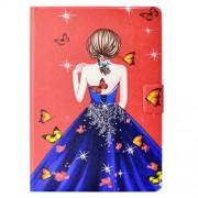 Δερμάτινη Θήκη Πορτοφόλι με Βάση Στήριξης για Huawei MediaPad T3 10 - Κορίτσι με Πεταλούδες
