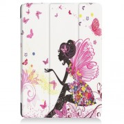 Δερμάτινη Θήκη Βιβλίο Tri-Fold με Βάση Στήριξης για Huawei MediaPad T3 10 9.6 - Νεραϊδοκόριτσο με Πεταλούδες