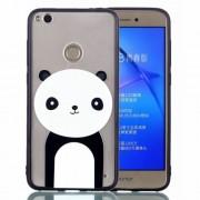 Rubberized Embossed TPU + PC Hybrid Back Cover for Huawei P8 Lite (2017)/Honor 8 Lite - Panda