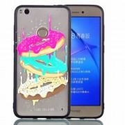 Rubberized Embossed TPU + PC Hybrid Back Shell for Huawei P8 Lite (2017)/Honor 8 Lite - Donuts