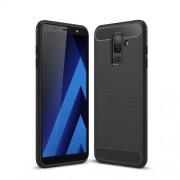 Θήκη Σιλικόνης TPU Carbon Fiber Brushed για Samsung Galaxy A6 Plus (2018) - Μαύρο