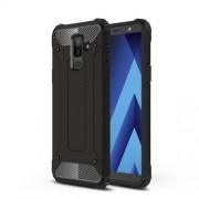Armor Guard Plastic + TPU Hybrid Phone Case for Samsung Galaxy A6 Plus (2018) - Black