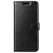Δερμάτινη Θήκη Πορτοφόλι με Βάση Στήριξης για Samsung Galaxy A6 Plus (2018) - Μαύρο