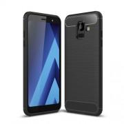 Θήκη Σιλικόνης TPU Carbon Fiber Brushed για Samsung Galaxy A6 (2018) - Μαύρο