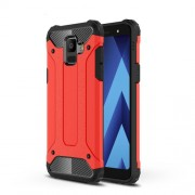 Armor Guard Plastic + TPU Hybrid Mobile Shell for Samsung Galaxy A6 (2018) - Red