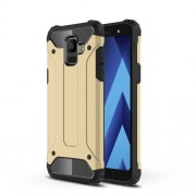 Armor Guard Plastic + TPU Hybrid Protective Cover for Samsung Galaxy A6 (2018) - Gold