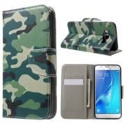 Δερμάτινη Θήκη Πορτοφόλι με Βάση Στήριξης για Samsung Galaxy J5 (2016) - Καμουφλάζ