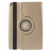Litchi Texture Rotary Leather Stand Case Cover for iPad Pro 9.7-inch - Gold