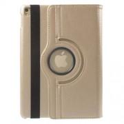 Περιστρεφόμενη Δερμάτινη Θήκη Βιβλίο με Βάση Στήριξης για iPad Pro 9.7 - Χρυσαφί