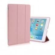 2-in-1 Tri-fold Smart Leather Cover PC Back Case for iPad Pro 9.7 inch - Rose Gold
