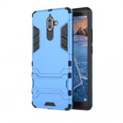 Cool Guard PC TPU Combo Cell Phone Casing with Kickstand for Nokia 7 plus - Baby Blue