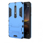 Cool Guard PC TPU Combo Cell Phone Case with Kickstand for Nokia 6.1 (5.5-inch) - Baby Blue