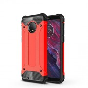 Armor Guard Plastic + TPU Combo Case for Motorola Moto G6 - Red