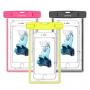 USAMS Fluorescent IPX8 Waterproof Bag Case for iPhone 6s/6 4.7 with Strap - Black