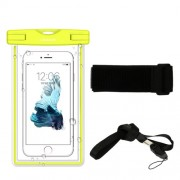 USAMS Fluorescent IPX8 Waterproof Dive Case for iPhone 6s/6 4.7 with Strap - Yellow