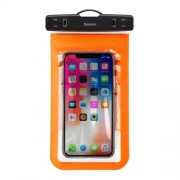 Baseus Waterproof Universal Phone Pouch Bag Smartphone Bag with Lanyard for iPhone Samsung Huawei etc. - Orange