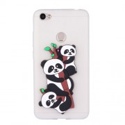 Cute 3D Pandas and Bamboo TPU Cover for Xiaomi Redmi Note 5A Prime / Y1 (India) - White
