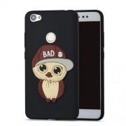 Cute 3D Male Owl TPU Soft Phone Case for Xiaomi Redmi Note 5A Prime / Redmi Y1 (India) - Black