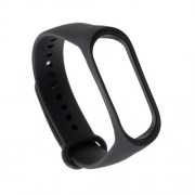 Flexible TPU Wristband Bracelet Replacement for Xiaomi Mi Band 3 - Black