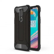 Armor Guard Plastic + TPU Hybrid Case for OnePlus 6 - Black