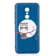Θήκη Σιλικόνης TPU για Xiaomi Redmi 5 Plus - Κουκουβάγια στο Κλαρί