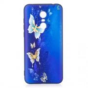 Θήκη Σιλικόνης TPU για Xiaomi Redmi 5 Plus - Μπλε και Χρυσή Πεταλούδα