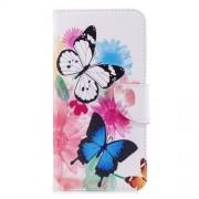 Δερμάτινη Θήκη Πορτοφόλι με Βάση Στήριξης για Xiaomi Redmi 5 Plus - Πεταλούδες και Λουλούδια