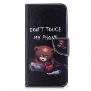 Δερμάτινη Θήκη Πορτοφόλι με Βάση Στήριξης για Xiaomi Redmi 5 Plus - Χαριτωμένο Άγριο Αρκουδάκι
