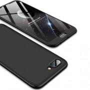 GKK 360 μοιρών Σκληρή Θήκη Ματ με Βελούδινη Υφή Πρόσοψης και Πλάτης για Huawei Honor 10 - Μαύρο