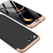 GKK 360 μοιρών Σκληρή Θήκη Ματ με Βελούδινη Υφή Πρόσοψης και Πλάτης για Huawei Honor 10 - Μαύρο/Χρυσαφί