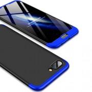 GKK 360 μοιρών Σκληρή Θήκη Ματ με Βελούδινη Υφή Πρόσοψης και Πλάτης για Huawei Honor 10 - Μαύρο/Μπλε