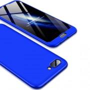 GKK 360 μοιρών Σκληρή Θήκη Ματ με Βελούδινη Υφή Πρόσοψης και Πλάτης για Huawei Honor 10 - Μπλε