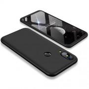 GKK 360 μοιρών Σκληρή Θήκη Ματ με Βελούδινη Υφή Πρόσοψης και Πλάτης για Huawei P20 Lite - Μαύρο