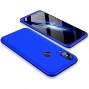 GKK 360 μοιρών Σκληρή Θήκη Ματ με Βελούδινη Υφή Πρόσοψης και Πλάτης για Huawei P20 Lite - Μπλε