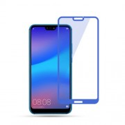 MOCOLO Silk Print Arc Edge Full Size Tempered Glass Screen Guard Film for Huawei P20 Lite/Nova 3e - Blue