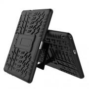 Υβριδική Θήκη Συνδυασμού Σιλικόνης TPU και Πλαστικού με Βάση Στήριξης για Huawei MediaPad T3 10 - Μαύρο