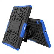 Υβριδική Θήκη Συνδυασμού Σιλικόνης TPU και Πλαστικού με Βάση Στήριξης για Huawei MediaPad T3 10 - Μπλε