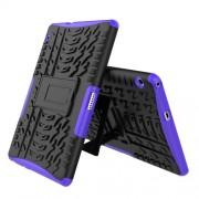 Υβριδική Θήκη Συνδυασμού Σιλικόνης TPU και Πλαστικού με Βάση Στήριξης για Huawei MediaPad T3 10 - Μωβ