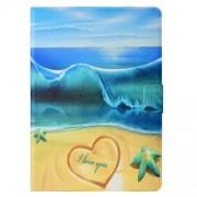 Δερμάτινη Θήκη Πορτοφόλι με Βάση Στήριξης για Huawei MediaPad T3 10 - Παραλία και Θάλασσα