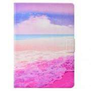 Δερμάτινη Θήκη Πορτοφόλι με Βάση Στήριξης για Huawei MediaPad T3 10 - Ροζ Παραλία