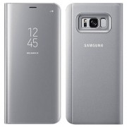 Samsung Book Clear View Cover for Samsung Galaxy S8 Plus - Silver (EF-ZG955CSEGWW )
