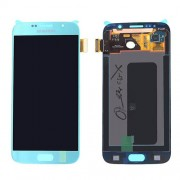 Original LCD Screen and Digitizer Touch Screen for Samsung Galaxy S6 SM-G920F - Blue (GH97-17260D)