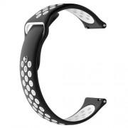 Μπρασελέ Σιλικόνης για το Xiaomi Amazfit Watch / Fossil Q MARSHAL Gen2 - Μαύρο/Λευκό