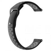 Μπρασελέ Σιλικόνης για το Xiaomi Amazfit Watch / Fossil Q MARSHAL Gen2 - Μαύρο/Γκρι